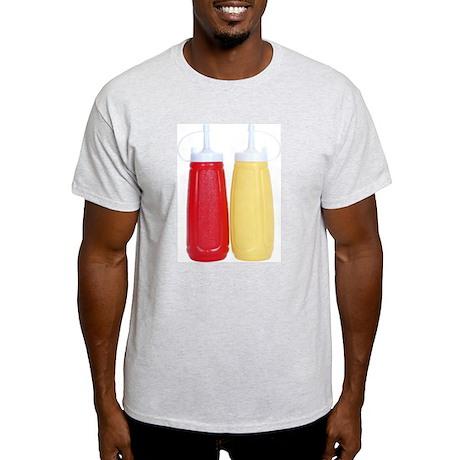 Ketchup & Mustard On Your Ash Grey T-Shirt