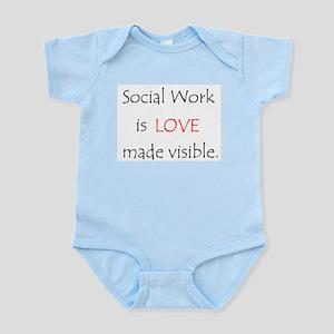 Social Work is Love Infant Bodysuit