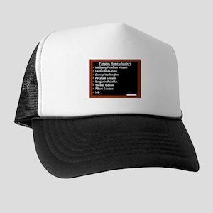 """""""Famous Homeschoolers"""" Trucker Hat"""