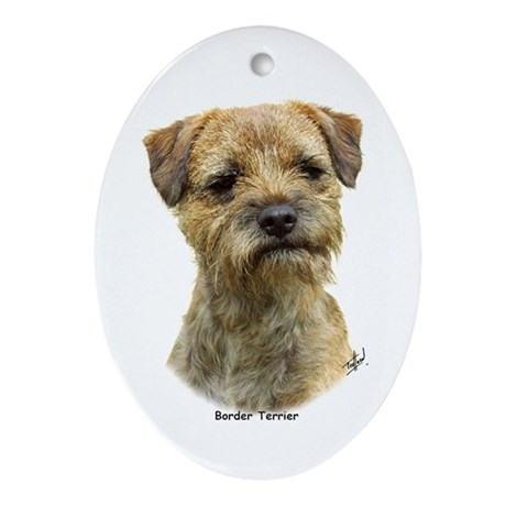 Border Terrier 9A21D-19 Ornament (Oval)