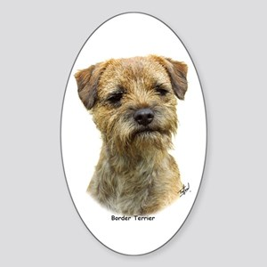Border Terrier 9A21D-19 Sticker (Oval)