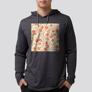 Seamless Flower Pattern Long Sleeve T-Shirt