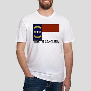 North Carolina Flag Fitted T-Shirt