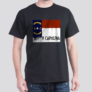 North Carolina Flag Dark T-Shirt