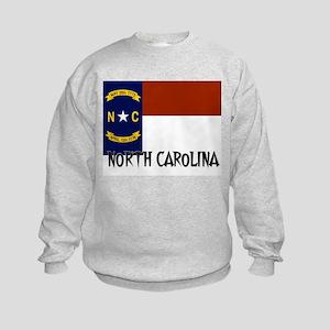 North Carolina Flag Kids Sweatshirt