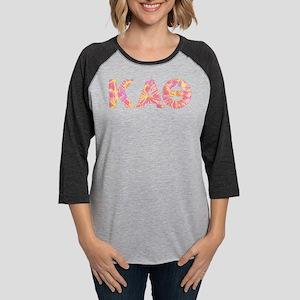 Kappa Alpha Theta Pink Womens Baseball Tee