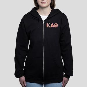 Kappa Alpha Theta Pink Women's Zip Hoodie