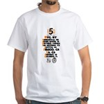 FDO 5 Cities Front ONLY White T-Shirt