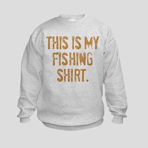 THIS IS MY FISHING SHIRT. Kids Sweatshirt
