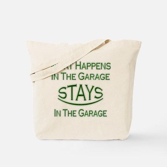 Stays In Garage Tote Bag