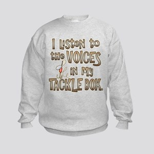 VOICES IN MY TACKLE BOX Kids Sweatshirt