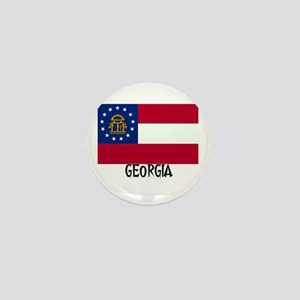 Georgia Flag Mini Button