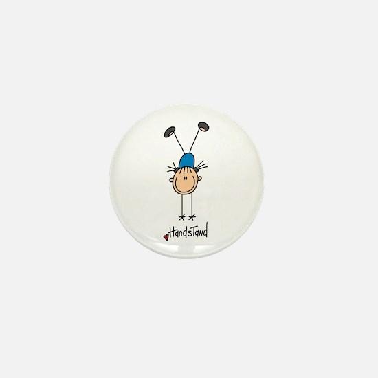 Gymnastics Handstand Mini Button