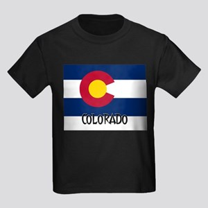 Colorado Flag Kids Dark T-Shirt