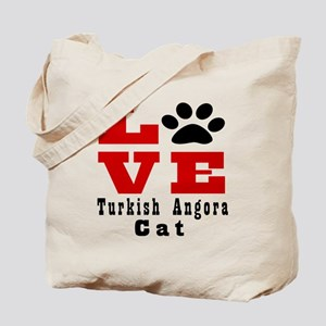 Love turkish angora Cats Tote Bag