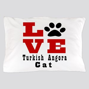 Love turkish angora Cats Pillow Case