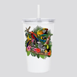 Parrot Macaw Acrylic Double-wall Tumbler