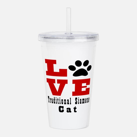 Love traditional siame Acrylic Double-wall Tumbler