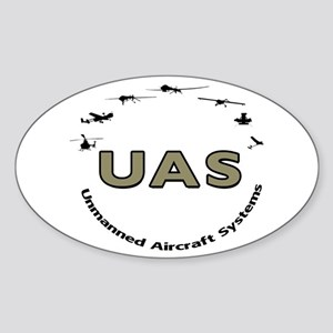 UAS Oval Sticker