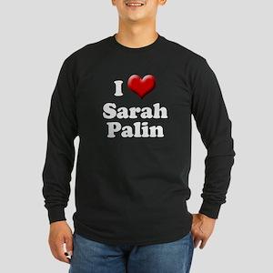 I love Sarah Palin Heart Long Sleeve Dark T-Shirt