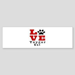 Love toyger Cats Sticker (Bumper)