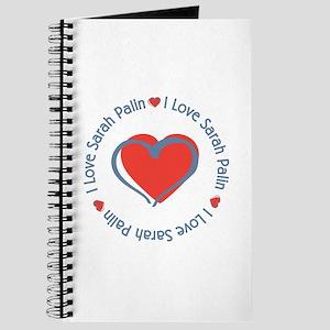 I Love Heart Sarah Palin Journal