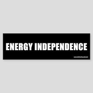 Energy Independence Bumper Sticker