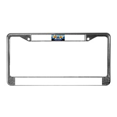 Inked Radio License Plate Frame