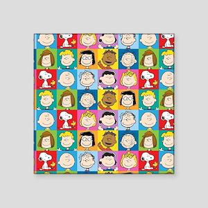 "Peanuts Back to School Square Sticker 3"" x 3"""