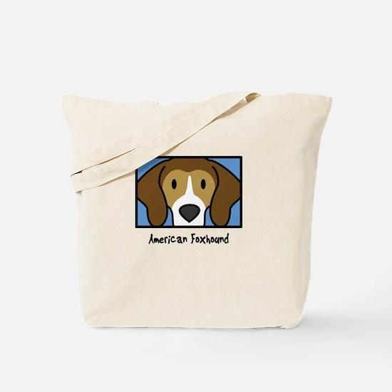 Anime American Foxhound Tote Bag