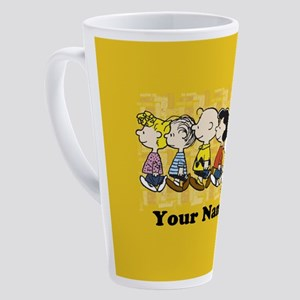 Peanuts Walking Personalized 17 oz Latte Mug