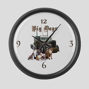 Big Dogs Large Wall Clock
