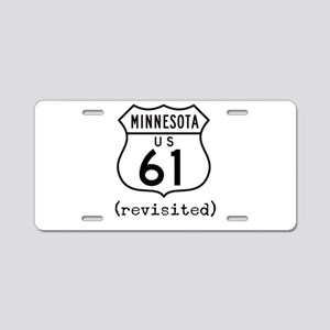 61 Revisited Aluminum License Plate