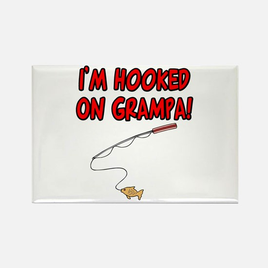Hooked on grampa Rectangle Magnet