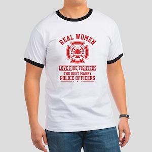 Real Woman love Firefighter T Shirt T-Shirt
