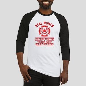 Real Woman love Firefighter T Shir Baseball Jersey
