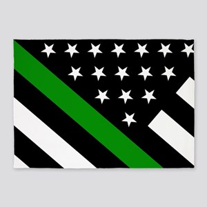 U.S. Flag: Thin Green Line 5'x7'Area Rug