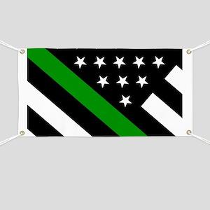 U.S. Flag: Thin Green Line Banner