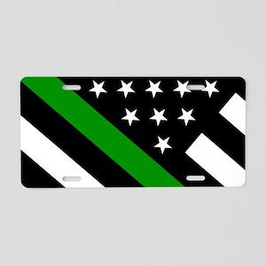 U.S. Flag: Thin Green Line Aluminum License Plate