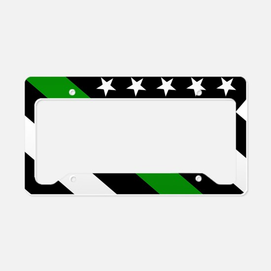 U.S. Flag: Thin Green Line License Plate Holder