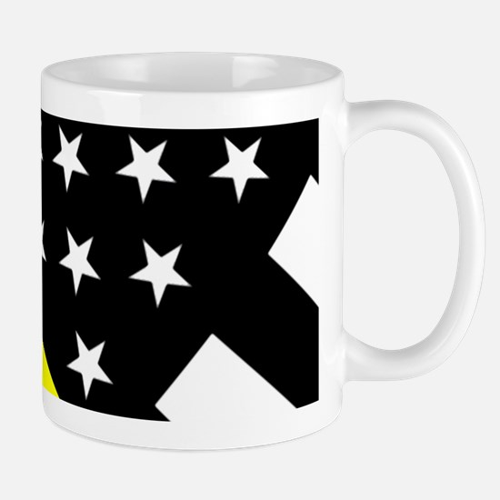 U.S. Flag: Thin Yellow Line Mug