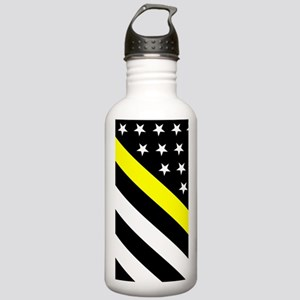 U.S. Flag: Thin Yellow Stainless Water Bottle 1.0L