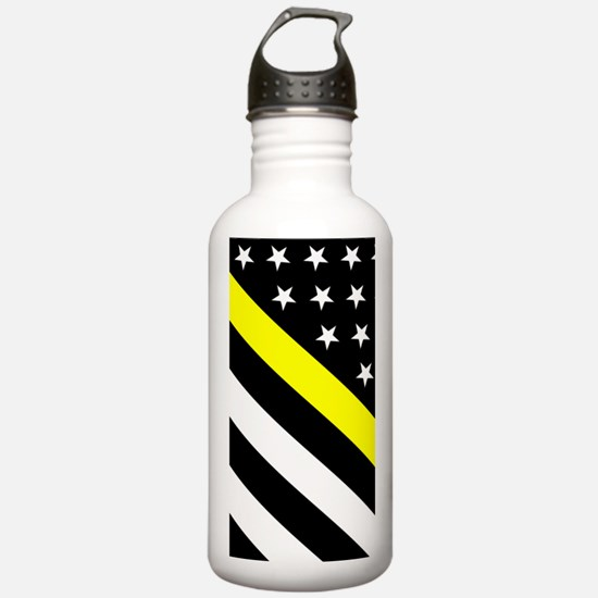 U.S. Flag: Thin Yellow Water Bottle