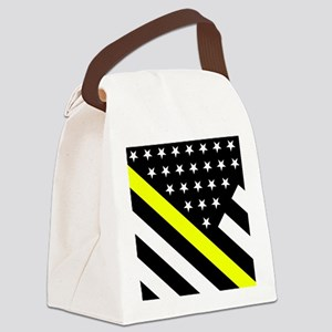 U.S. Flag: Thin Yellow Line Canvas Lunch Bag