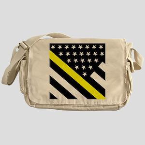 U.S. Flag: Thin Yellow Line Messenger Bag
