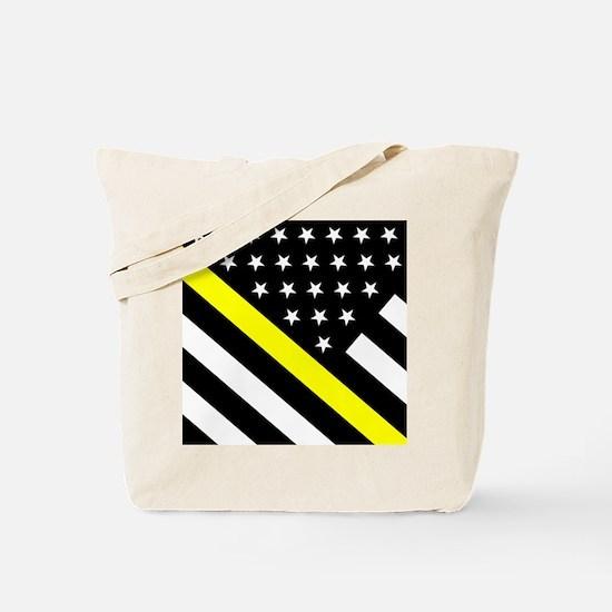 U.S. Flag: Thin Yellow Line Tote Bag