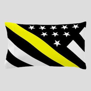 U.S. Flag: Thin Yellow Line Pillow Case