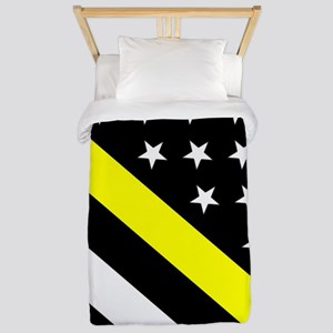 U.S. Flag: Thin Yellow Line Twin Duvet Cover