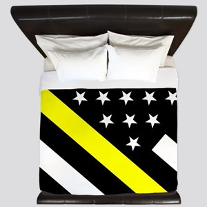 U.S. Flag: Thin Yellow Line King Duvet
