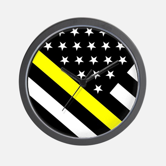U.S. Flag: Thin Yellow Line Wall Clock